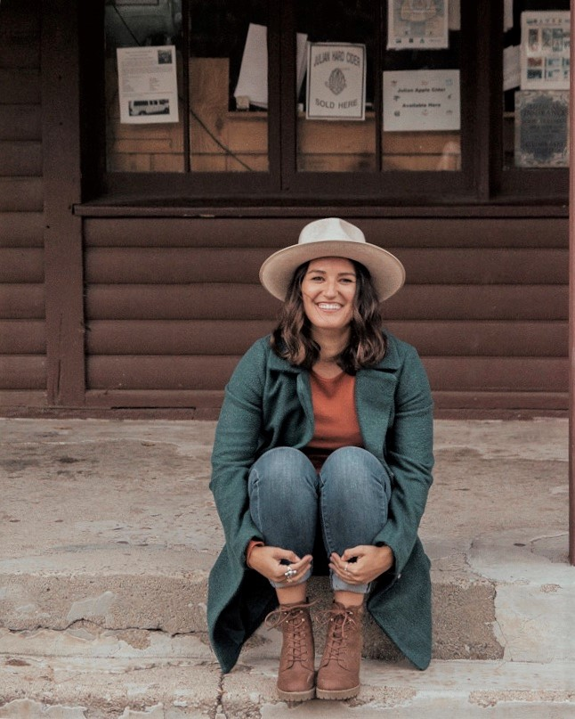 Cute Mountain Cabin Girl GigiPip Oatmeal Fedora and Jacket