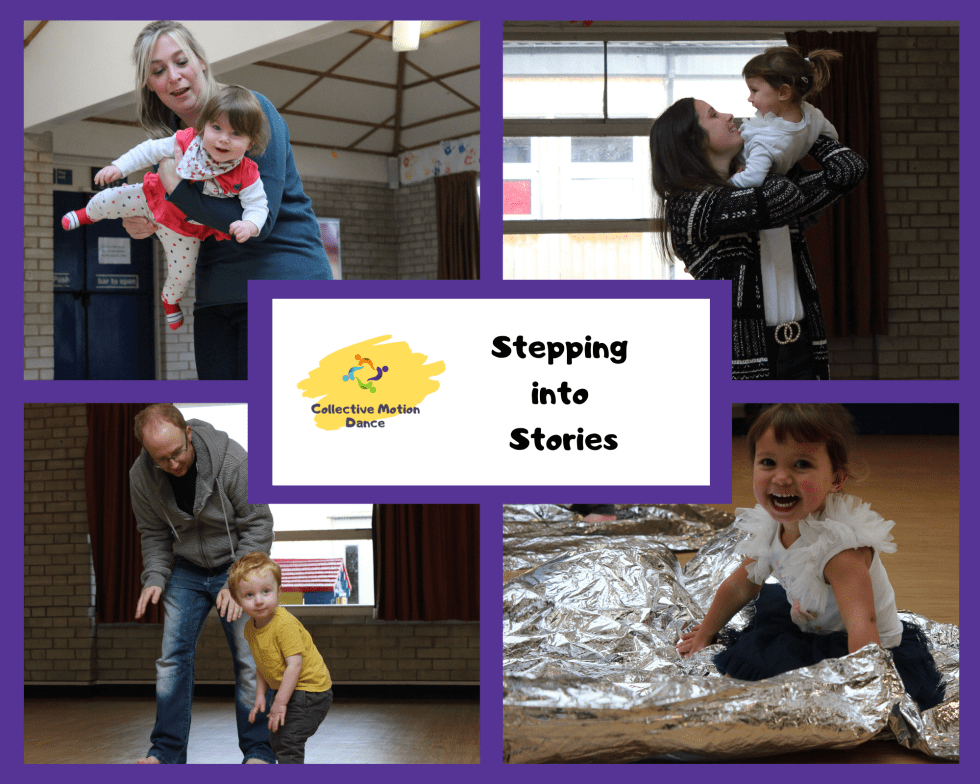 Stepping into Stories classes consisting of dance, storytelling and creative play activities for toddlers and pre-school children in Alton and Basingstoke, Hampshire.