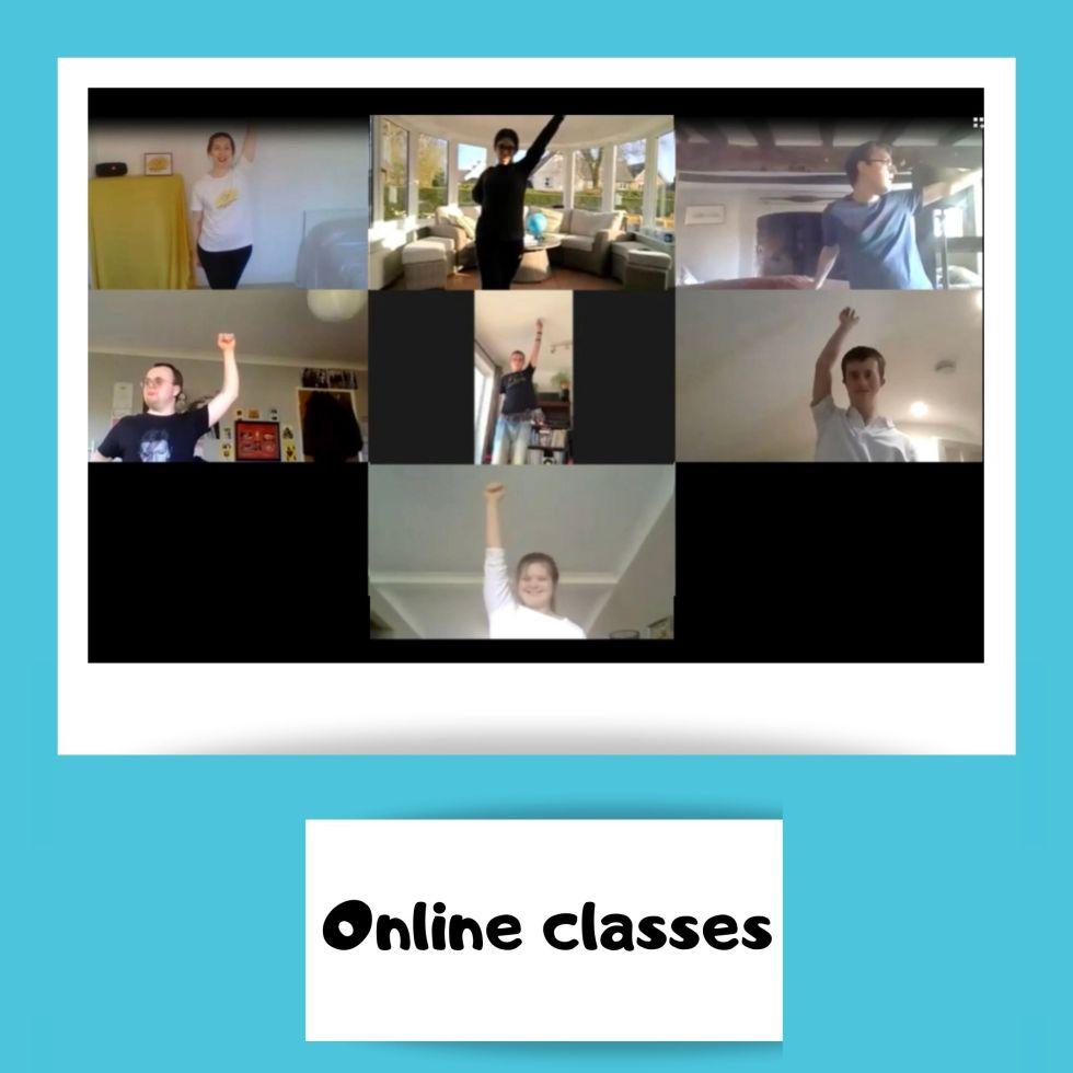 Zoom screen shot of dancers