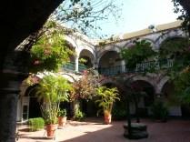 Courtyard in Cartagena, Columbia