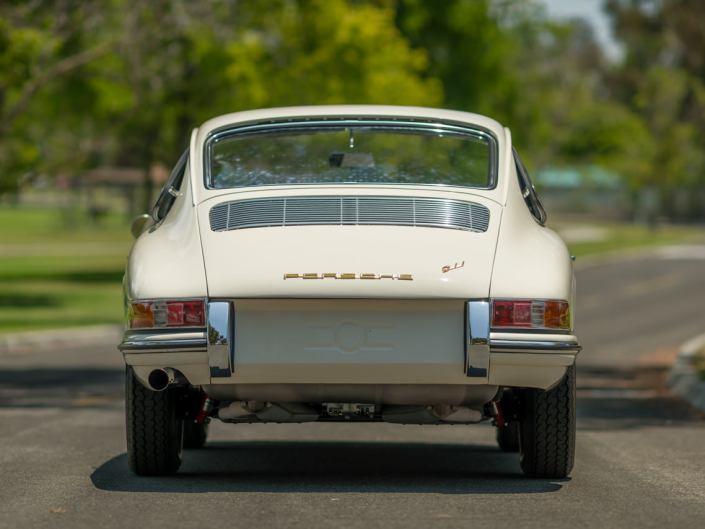 ivory porsche 911 1965 back