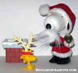 Santa Snoopy & Woodstock playset