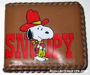 Snoopy as Cowboy Wallet