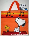 Snoopy & Woodstock whistling Tote Bag