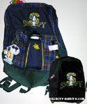 Joe Cool and Snoopy Tartan Backpack