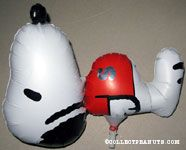 Snoopy laying on his back wearing red shirt Mylar Balloon