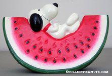 Snoopy on a Watermelon