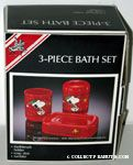 Santa Snoopy & Woodstock with Christmas Lights 3-Piece Bath Set - Cup, Soap Dish, Toothbrush Holder