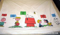 Peanuts Gang sayings bordered flat sheet
