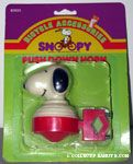 Snoopy head red push-down Horn