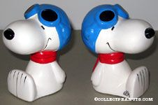 Flying Ace Snoopy Bookends