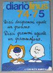 Sally writing with Charlie Brown Diario Linus 1974-1975