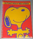 Snoopy with outstretched arms 1995 Peanuts Week-by-week Datebook