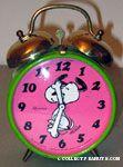 Snoopy Dancing Alarm Clock - Pink & Green
