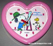 Artist Snoopy painting Woodstock Clock