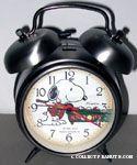 Snoopy playing pool Alarm Clock