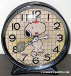Snoopy playing tennis Alarm Clock