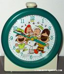 Peanuts Gang cheering in baseball uniforms Alarm Clock