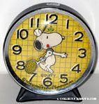 Snoopy with Tennis Racket Alarm Clock