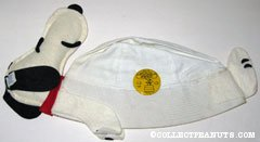Snoopy Hat with Flying Ace pinback button