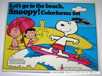 Let's go to the beach, Snoopy! Colorforms Set