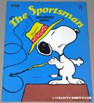 Snoopy fishing from doghouse 'Sportsman' Coloring Book