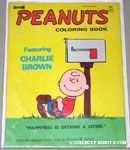 Charlie Brown leaning on mailbox Coloring Book