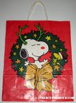 Snoopy and Woodstock in Wreath
