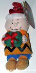 Charlie Brown with present Bag Clip