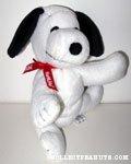 Snoopy wearing ribbon Beanie Plush