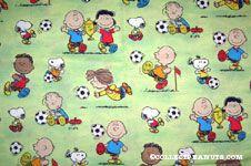 Peanuts Gang playing soccer