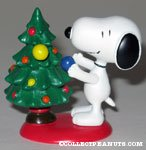 Snoopy decorating Christmas tree spring figurine