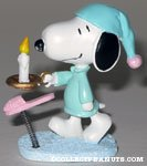 Snoopy in nightshirt with candle spring figurine