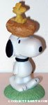 Snoopy with Woodstock's Nest on his head Figurine