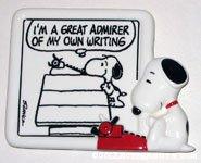 Snoopy at typewriter comic Figurine