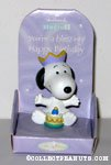 Snoopy with cake & crown 'You're a Blessing' Figurine