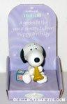 Snoopy with trumpet & blocks 'Godchild' Figurine