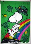 Peanuts & Snoopy St. Patrick's Day Flags