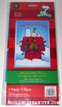 Snoopy & Woodstock on decorated doghouse 'Season's Greetings' Flag