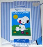Snoopy Smelling Flower Flag