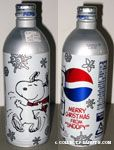 Snoopy dancing with snow flakes Pepsi Aluminum Bottle