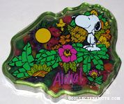 Snoopy & Woodstock with plants 'Aloha' Hawaii Candy Container
