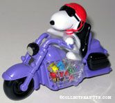 Snoopy riding purple motorcycle Candy Container