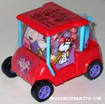 Snoopy driving valentine's golf cart Candy Container