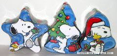 Snoopy & Woodstock set of 3 Christmas Candy Tins