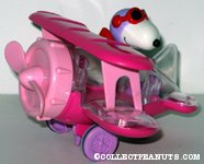 Flying Ace in Pink Bi-plane Candy Container