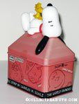 Snoopy & Woodstock on Doghouse Ring Cookie Tin