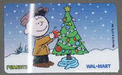 Charlie Brown decorating Christmas tree Walmart Gift Card