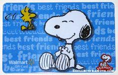 Snoopy & Woodstock laughing 'Best Friends' Walmart Gift Card