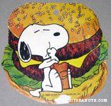 Snoopy eating hamburger Gift Tag